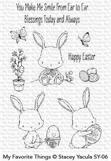 My Favorite Things Easter Bunnies Clear Stamps (SY-06)