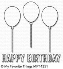 My Favorite Things Die-Namics Happy Birthday Balloon Trio (MFT-1351)
