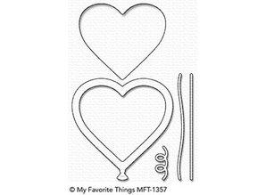 My Favorite Things Die-Namics Heart Balloon Shaker Window & Frame (MFT-1357)
