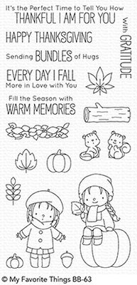 My Favorite Things Fall Friends Clear Stamps (BB-63)