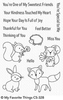 My Favorite Things Woodland Friends Clear Stamps (CS-328)