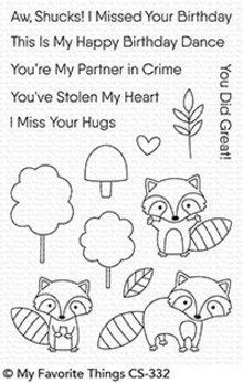 My Favorite Things Friendly Raccoons Clear Stamps (CS-332)