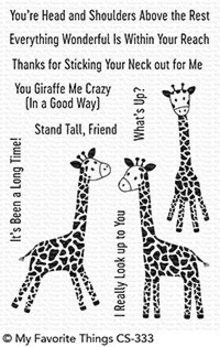 My Favorite Things Playful Giraffes Clear Stamps (CS-333)