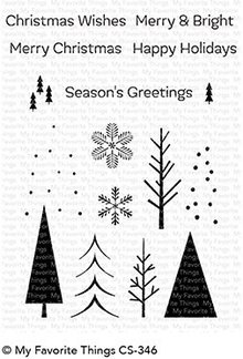 My Favorite Things Trio of Trees Clear Stamps (CS-346)