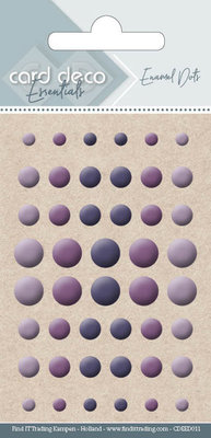 Card Deco Enamel Dots, Purple (CDEED011)