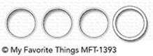 My Favorite Things Die-Namics Circle Trio Shaker Window & Frame (MFT-1393)