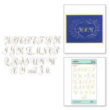 Spellbinders Copperplate Majuscules Hot Foil Plate (GLP-117)