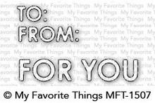 My Favorite Things Die-Namics Gifty Greetings (MFT-1507)