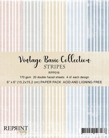 Reprint Stripes Basic 6x6 Inch Collection Pack (RRP016)