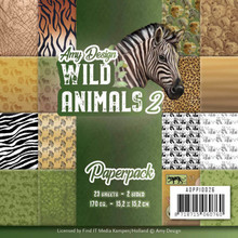 Amy Design Wild Animals 2 6x6 Inch Paper Pack (ADPP10026)