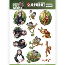Amy Design 3D Push Out Wild Animals 2 Monkeys (SB10349)