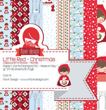 Flavir Design Little Red Christmas 12x12 Inch Paper Pack (COD.01)