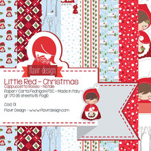 Flavir Design Little Red Christmas 6x6 Inch Paper Pack (COD.01)
