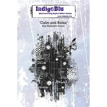 IndigoBlu Calm and Relax A6 Rubber Stamp (IND0501PC)