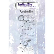 IndigoBlu Open your Heart A6 Rubber Stamp (IND0504PC)