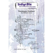 IndigoBlu Fandangle Feathers A6 Rubber Stamp (IND0510PC)