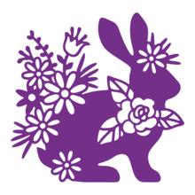 Gemini Silhouette Rabbit Papercraft Die (GEM-MD-ELE-SRAB)
