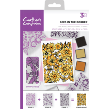 Crafter's Companion Bees in the Border Background Layering Stamps (CC-ST-CA-BKBEE)