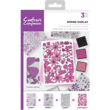 Crafter's Companion Spring Display Background Layering Stamps (CC-ST-CA-BKSPR)