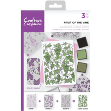 Crafter's Companion Fruit of the Vine Background Layering Stamps (CC-ST-CA-BKFRU)