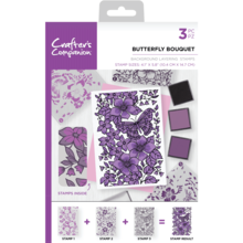 Crafter's Companion Butterfly Bouquet Background Layering Stamps (CC-ST-CA-BKBUT)
