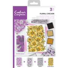 Crafter's Companion Floral Cascade Background Layering Stamps (CC-ST-CA-BKFLO)