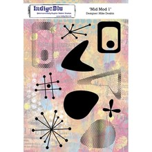 IndigoBlu Mid Mot 1 A5 Rubber Stamp (IND0523)
