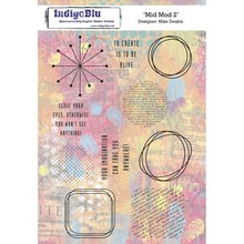 IndigoBlu Mid Mot 2 A5 Rubber Stamp (IND0524)