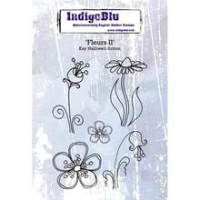IndigoBlu Fleurs II A6 Rubber Stamp (IND0507)
