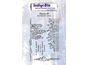 IndigoBlu Fleurs III A6 Rubber Stamp (IND0508)