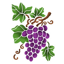 Stamperia Masking Stencil A5 Grape (KSD297)