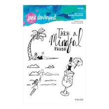 Spellbinders Jane Davenport Mindful Pause Clear Stamps (JDS-023)