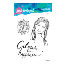 Spellbinders Jane Davenport Colour is Happiness Clear Stamps (JDS-036)