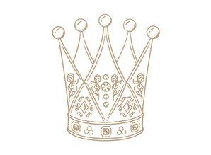 Jane Davenport Jane Davenport Crowned Royalty Hot Foil Plate (JDGL-006)