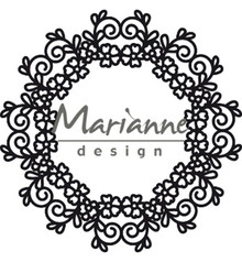 Marianne Design Craftable Floral Doily (CR1470)