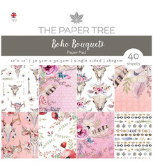 The Paper Boutique Boho Bouquets 12x12 Inch Paper Pad (PTC1018)