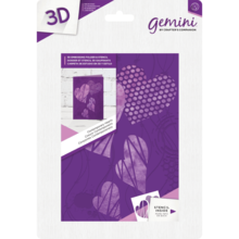 Gemini Contemporary Hearts 3D Embossing Folder & Stencil (GEM-EF5-3D-COHE)