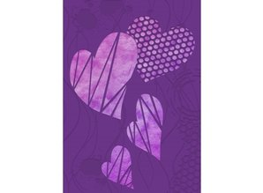 Gemini Contemporary Hearts 3D Embossing Folder & Stencil (GEM-EF5-3D-COHE)