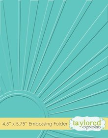 Taylored Expressions Walking On Sunshine Embossing Folder (TEEF14)