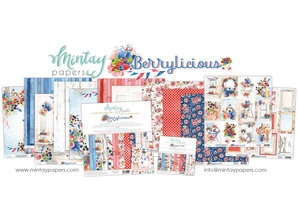 Mintay Berrylicious 12x12 Inch Scrapbooking Paper Set (MT-BER-07)