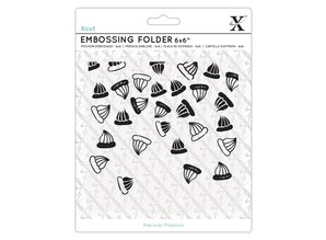 Xcut 6x6 Inch Embossing Folder Sweet Treats Iced Gems (XCU 515239)