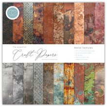 Craft Consortium Metal Textures 12x12 Inch Paper Pad (CCEPAD005)