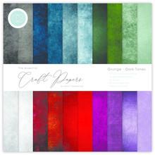 Craft Consortium Grunge Dark Tones 12x12 Inch Paper Pad (CCEPAD007)