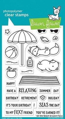 Lawn Fawn On the Beach Clear Stamps (LF1953)