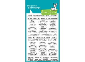 Lawn Fawn Reveal Wheel Friends & Family Sentiments Clear Stamps (LF1969)