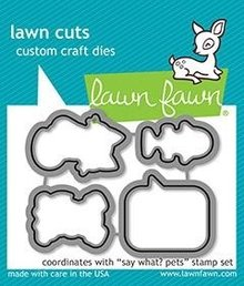 Lawn Fawn Say What? Pets Dies (LF1963)