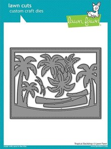 Lawn Fawn Tropical Backdrop Dies (LF1986)