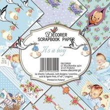 Decorer It's a Boy 6x6 Inch Paper Pack (DECOR-C26-229)