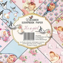 Decorer It's a Girl 6x6 Inch Paper Pack (DECOR-C27-230)