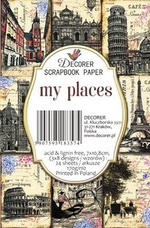 Decorer My Places Paper Pack (7x10,8cm) (M63)